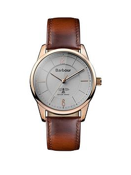barbour-bb049rsbr-mortimer-brown-leather-strap-mens-watch