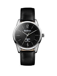 barbour-bb049slbknbspmortimer-black-leather-strap-mensnbspwatch