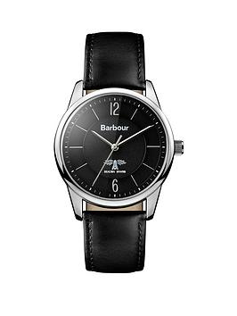 barbour-bb049slbknbspmortimer-black-leather-strap-mensnbspwatch