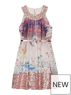 baker-by-ted-baker-girls039-multi-coloured-woodland-scene-sequinned-trim-belted-dress