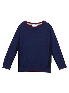 baker-by-ted-baker-boys039-navy-ribbed-side-panel-jumper-with-merino-wool