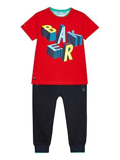 baker-by-ted-baker-boys039-red-logo-print-top-and-bottoms-outfit