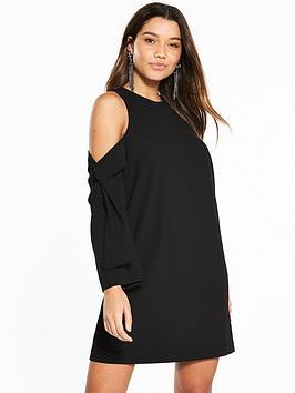 river-island-river-island-cold-shoulder-swing-dress--black