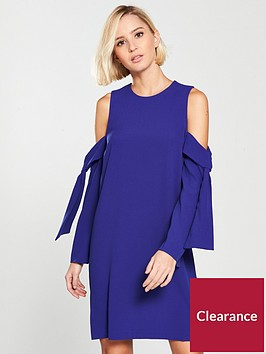 river-island-river-island-cold-shoulder-swing-dress--blue