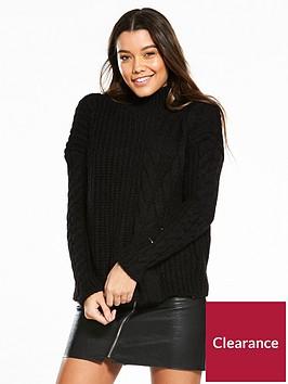 river-island-cable-knit-jumper--black