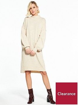 river-island-river-island-balloon-sleeve-dress--oatmeal
