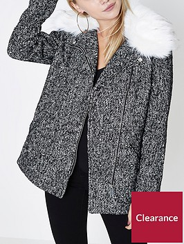 ri-petite-faux-fur-collar-coat--grey