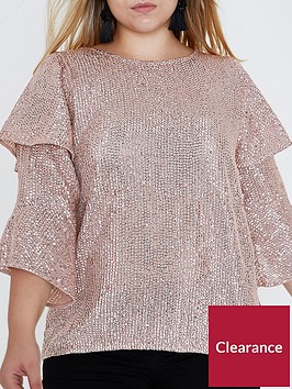 ri-plus-frill-sleeve-blouse--light-pink