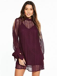 river-island-lace-swing-dress--berry