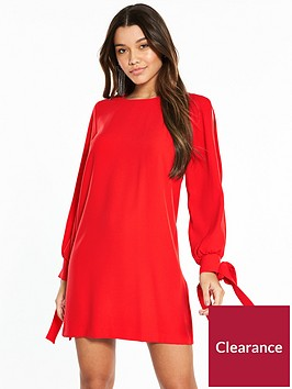 river-island-swing-dress--red