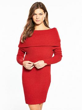 river-island-bardot-dress--red