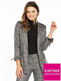 river-island-check-eyelet-blazer--grey