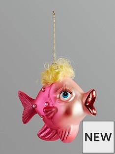 gisela-graham-painted-glass-fish-hanging-christmas-tree-decoration-pink