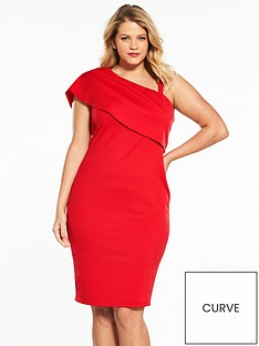v-by-very-curve-one-shoulder-scuba-dress-red
