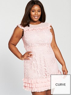 v-by-very-curve-lace-pleat-detail-dress-blush