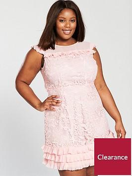 v-by-very-curve-lace-pleat-detail-dress-blush