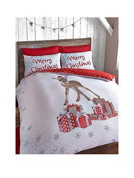 catherine-lansfield-christmas-deer-double-duvet-set
