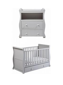 east-coast-east-coast-alaska-cot-bed-dresser-changer-grey