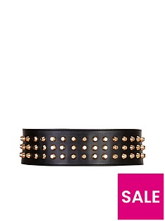 forever-unique-gold-studded-leather-belt
