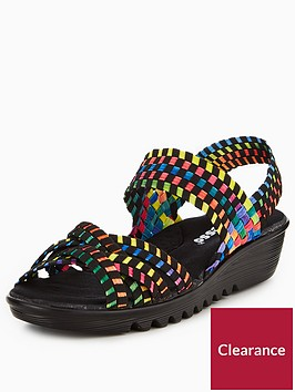 adesso-flair-stretch-elastic-comfort-low-wedge-sandal