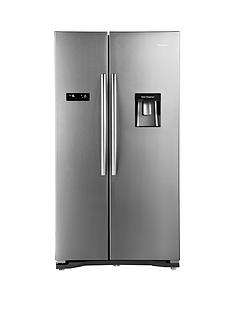 Hisense RS723N4WC1 American Fridge Freezer With Non-Plumbed Water Dispenser - Stainless Steel Effect