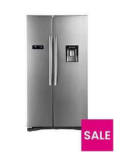 hisense-rs723n4wc1nbsp91cmnbspwide-american-fridge-freezer-with-non-plumbed-water-dispenser-stainless-steel-effect