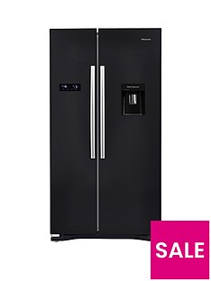 hisense-rs723n4wb1nbsp91cmnbspwide-american-fridge-freezer-with-non-plumbed-water-dispenser-black