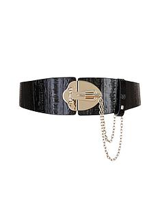 forever-unique-lock-detail-leather-belt