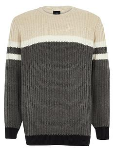 river-island-boys-grey-ribbed-front-colour-block-jumper