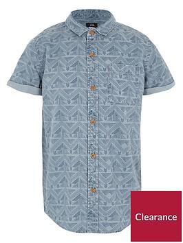 river-island-boys-blue-aztec-print-short-sleeve-shirt
