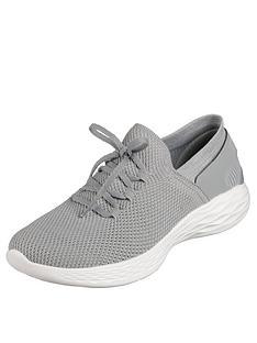 skechers-you-spirit-lace-up-trainer-grey
