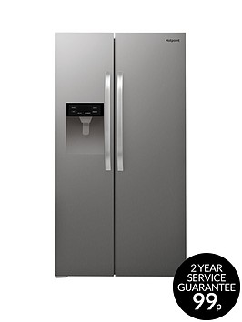 hotpoint-day-1-sxbhae924wdnbspfrost-free-american-style-fridge-freezer-with-water-dispenser-stainless-steel