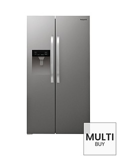 hotpoint-sxbhe924wd-frost-free-american-style-fridge-freezer-with-water-dispenser-stainless-steel