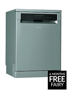 Hotpoint HFP4O22WGCX 14-Place Full Size Dishwasher - Silver Best Price, Cheapest Prices