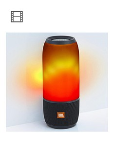 JBL Pulse 3 Wireless Bluetooth Waterproof Speaker with 360° Sound and LED Lightshow - Black