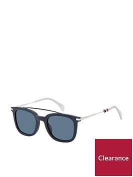tommy-hilfiger-tommy-hilfiger-bluewhite-brow-bar-sunglasses