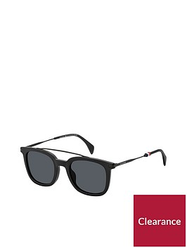 tommy-hilfiger-black-brow-bar-sunglasses