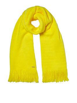river-island-yellow-fluffy-blanket-scarf