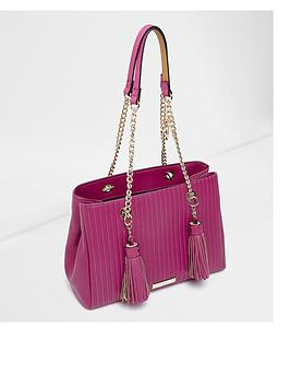 river-island-pink-double-tassel-tote-bag