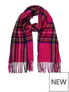 river-island-pink-tartan-scarf