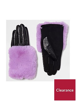 river-island-purple-fur-trim-glove