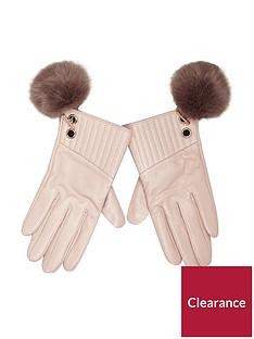 river-island-pink-light-pom-glove