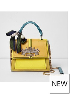 river-island-river-island-embellished-chain-tote-bag--yellow