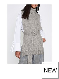 river-island-grey-knitted-tabbard