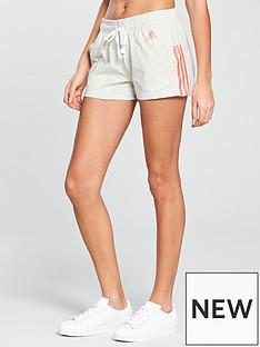 adidas-essentials-3-stripe-shorts-light-grey-heather