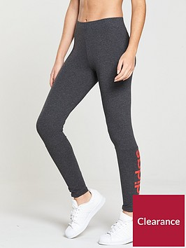 adidas-essentials-linear-tight-dark-grey-heathernbsp