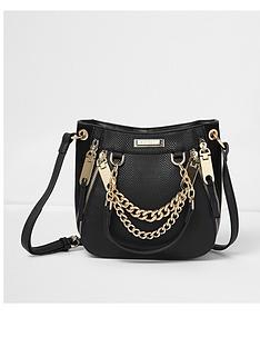 river-island-river-island-black-chain-scoop-mini-tote-bag