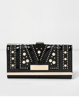 river-island-river-island-pearl-embellished-cutabout-cliptop-purse