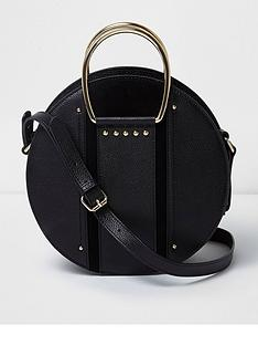river-island-river-island-round-leather-cross-bag--black