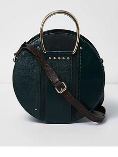 river-island-river-island-round-leather-cross-bag--dark-green